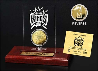 Sacramento Kings Sacramento Kings 24KT Gold Coin Etched Acrylic