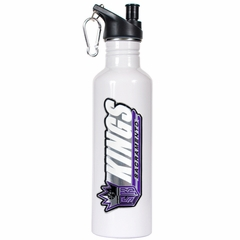 Sacramento Kings 26oz Stainless Steel Water Bottle (White)
