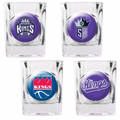Sacramento Kings 4 Piece Assorted Shot Glass Set