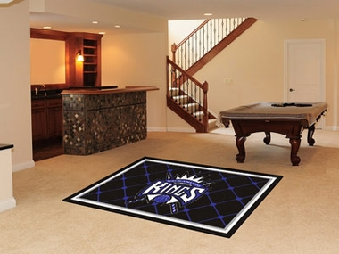 Sacramento Kings 5 Foot x 8 Foot Rug
