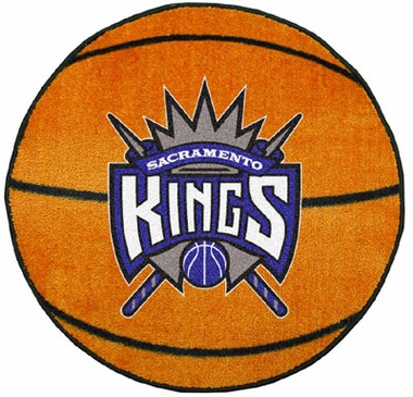 Sacramento Kings 27 Inch Basketball Shaped Rug