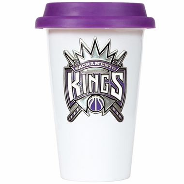Sacramento Kings Ceramic Travel Cup (Team Color Lid)