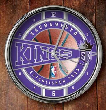 Sacramento Kings Chrome Clock