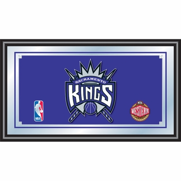 Sacramento Kings Framed Logo Bar Mirror