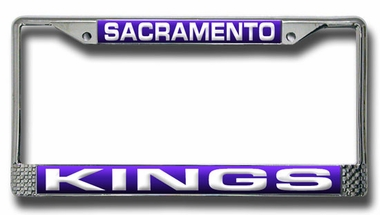 Sacramento Kings Laser Etched Chrome License Plate Frame