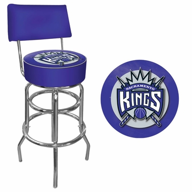 Sacramento Kings Padded Bar Stool with Back