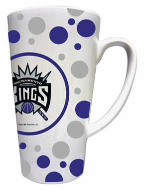 Sacramento Kings Polkadot 16 oz. Ceramic Latte Mug