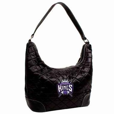 Sacramento Kings Quilted Hobo Purse