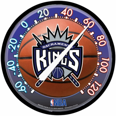 Sacramento Kings Round Wall Thermometer