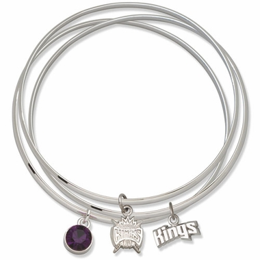 Sacramento Kings Triple Bangle Bracelet