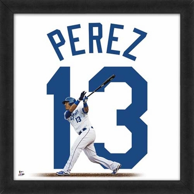 "Salvador Perez, Royals UNIFRAME 20"" x 20"""
