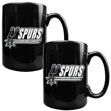 San Antonio Spurs 2 Piece Coffee Mug Set (Wordmark)