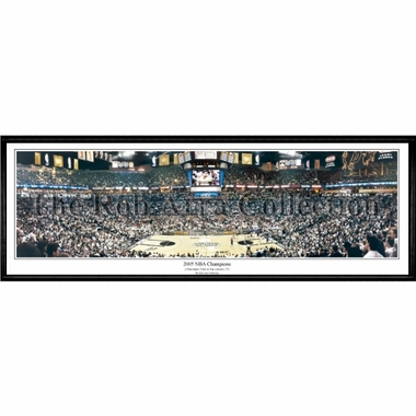 San Antonio Spurs 2005 NBA Champions Framed Panoramic Print