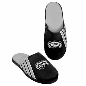 San Antonio Spurs 2012 Team Stripe Logo Slippers - Large