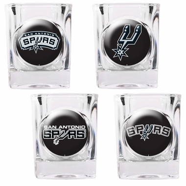 San Antonio Spurs 4 Piece Assorted Shot Glass Set
