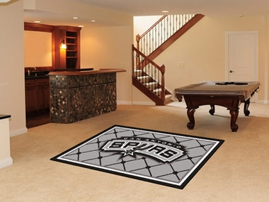 San Antonio Spurs 5 Foot x 8 Foot Rug