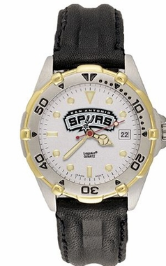 San Antonio Spurs All Star Mens (Leather Band) Watch