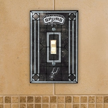 San Antonio Spurs Art Glass Lightswitch Cover