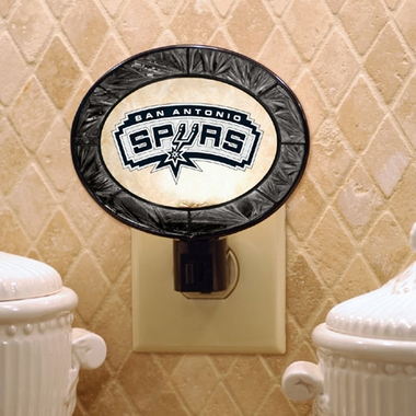 San Antonio Spurs Art Glass Night Light