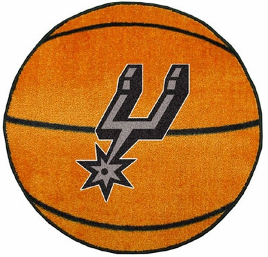 San Antonio Spurs Basketball Shaped Rug