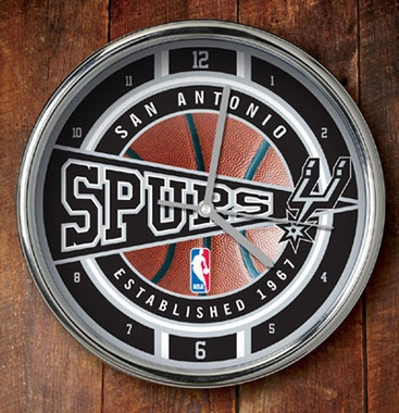 San Antonio Spurs Chrome Clock