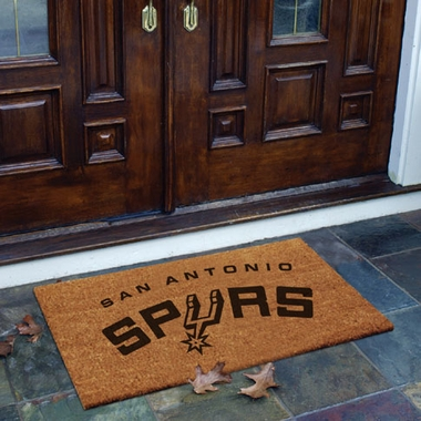San Antonio Spurs Flocked Coir Doormat