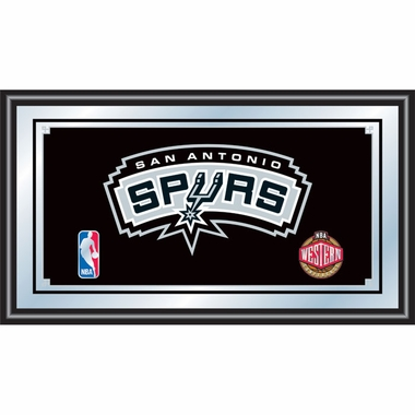 San Antonio Spurs Framed Logo Bar Mirror
