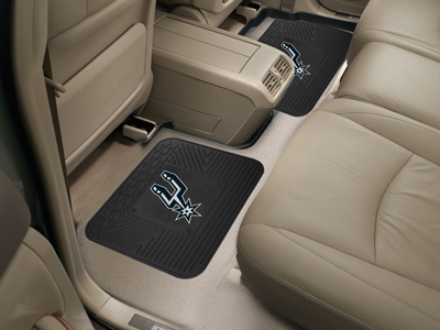 San Antonio Spurs SET OF 2 Heavy Duty Vinyl Rear Car Mats