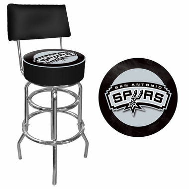 San Antonio Spurs Padded Bar Stool with Back