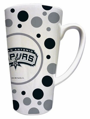 San Antonio Spurs Polkadot 16 oz. Ceramic Latte Mug
