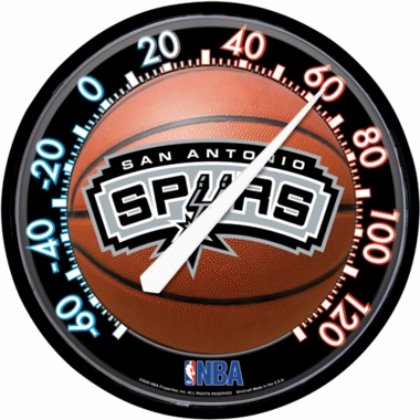 San Antonio Spurs Round Wall Thermometer