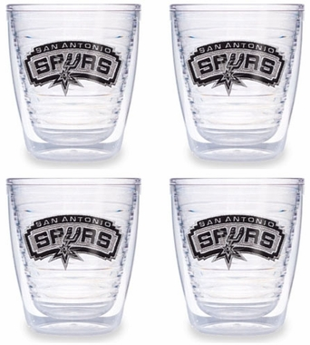 San Antonio Spurs Set of FOUR 12 oz. Tervis Tumblers