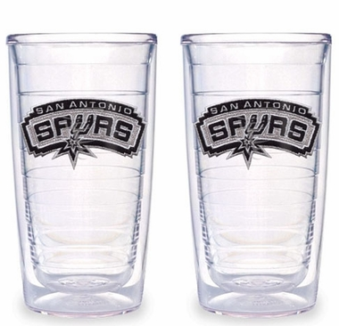 San Antonio Spurs Set of TWO 16 oz. Tervis Tumblers