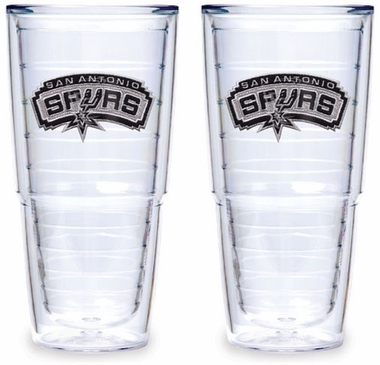 San Antonio Spurs Set of TWO 24 oz. Tervis Tumblers