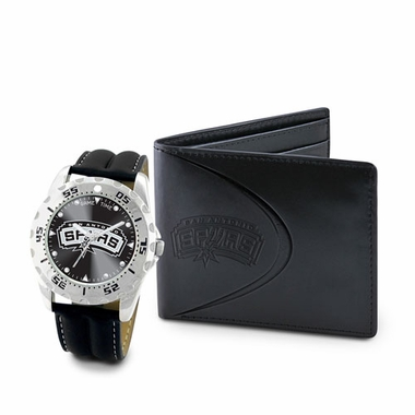 San Antonio Spurs Watch and Wallet Gift Set