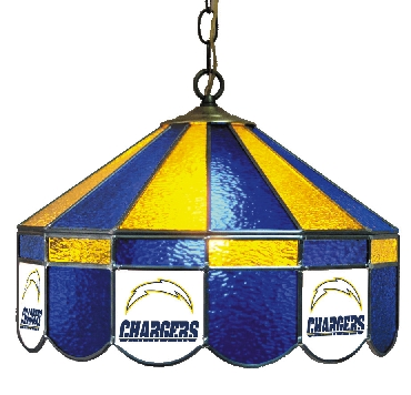 San Diego Chargers 16 Inch Diameter Stained Glass Pub Light