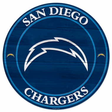 San Diego Chargers 19.75 Inch Wood Sign