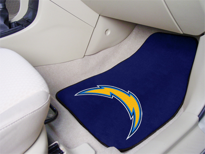 San Diego Chargers 2 Piece Car Mats