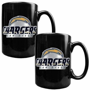 San Diego Chargers 2 Piece Coffee Mug Set