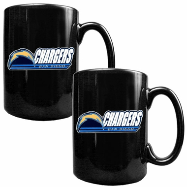 San Diego Chargers 2 Piece Coffee Mug Set (Wordmark)