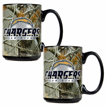San Diego Chargers 2 Piece Open Field Coffee Mug Set