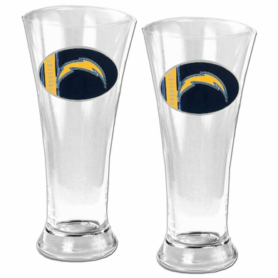 San Diego Chargers 2 Piece Pilsner Glass Set