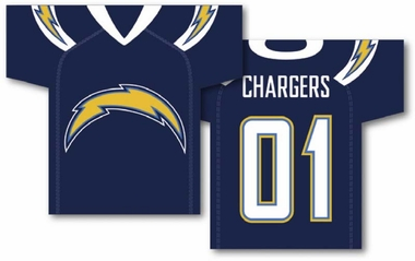 San Diego Chargers 2 Sided Jersey Banner Flag (F)