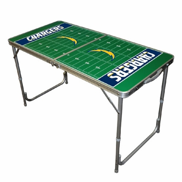 San Diego Chargers 2 x 4 Foot Tailgate Table