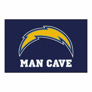 San Diego Chargers 20 x 30 Man Cave Rug