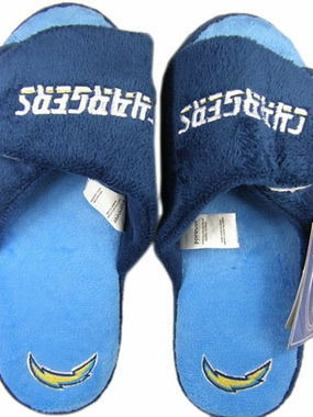 San Diego Chargers 2011 Open Toe Hard Sole Slippers