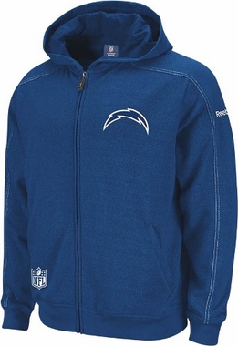 San Diego Chargers 2011 Sideline Static Storm Full Zip Hooded Sweatshirt