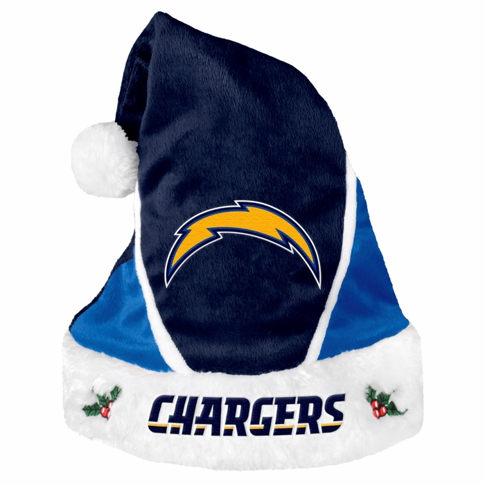 San Diego Chargers 2014 Color Block Santa Hat