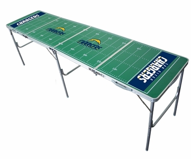 San Diego Chargers 2x8 Tailgate Table
