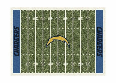 "San Diego Chargers 3'10"" x 5'4"" Premium Field Rug"